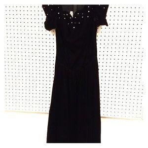 Positively Ellyn Black Velvet dress size 10
